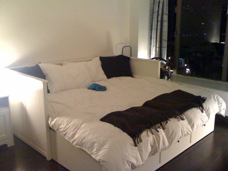 ikea daybed converts to king. Black Bedroom Furniture Sets. Home Design Ideas